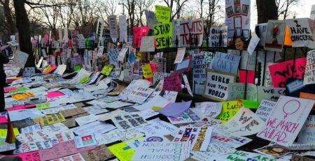 feminism protest messages